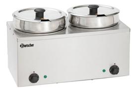 Bain-Marie Hotpot, 2x pan, 6,5 Liter