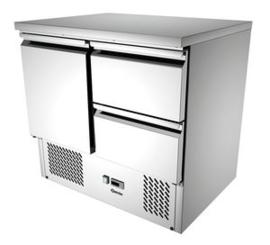 Mini-koelwerkbank 1 deur 2 laden