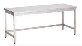 RVS werktafel zonder onderblad, 800(l)x700(d)x850(h)mm