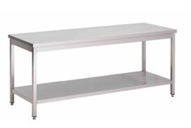 RVS werktafel met onderblad, 800(l)x700(d)x850(h)mm