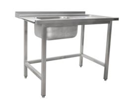 Aanvoertafel voor vaatwasser links 1200mm