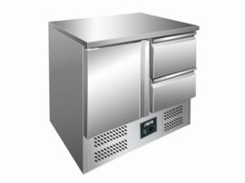 Koelwerkbank | gekoelde tafel RVS 1 deur 2 lades