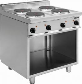 Elektrische kooktafel  | Fornuis 4 x 2,6 kW met onderstel