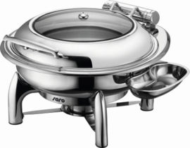 Inductie Chafing Dish met zelfsluiting deksel Ø 390 mm  6 ltr.