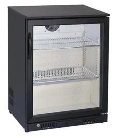 Bardisplay koelkast met 1 klapdeur 86,5 cm hoog