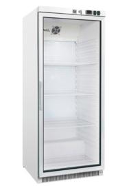 stalen koeling 600 liter met glasdeur, statisch gekoeld met ventilator