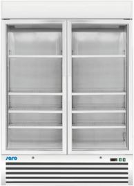 Bedrijfsvriezer met 2 glazen deur wit