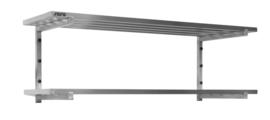 Wandschap met 2 open roosters  B 1600 mm x D 400 mm x H 420 mm