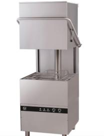 doorschuifvaatwasser elektronisch met afvoerpomp en zeepdispenser, 50x50, 400V