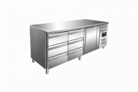 Koelwerkbank | koeltafel  1 deuren x 6 laden