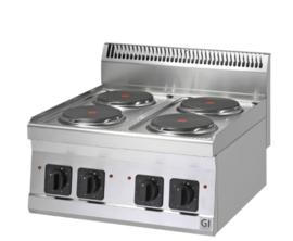 Elektrische kookplaat, 4 kookzones