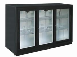 Barkoelkast | Barkoeling met 3 glazen schuifdeur 85cm hoog