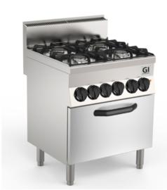 Gasfornuis 4 branders, elektrische oven, 70cm