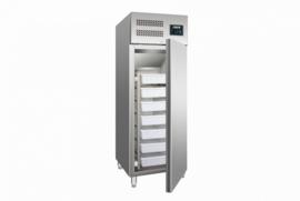 Vis koelkast met luchtventilatie RVS  inhoud 537 ltr.