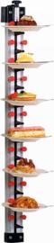 Bordenrek voor 12 borden Wandmodel
