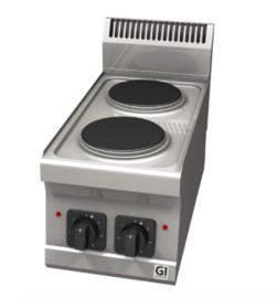 Elektrische kookplaat, 2 kookzones