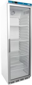 Horeca koelkast met glasdeur wit 361 Liter