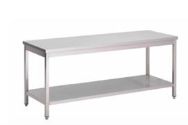 RVS werktafel met onderblad, 1500(l)x700(d)x850(h)mm