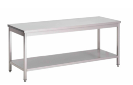 RVS werktafel met onderblad, 700(l)x700(d)x850(h)mm