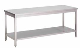 RVS werktafel met onderblad, 1000(l)x700(d)x850(h)mm