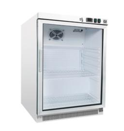 Stalen koeling 200 liter met glasdeur, statisch gekoeld met ventilator