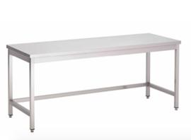 RVS werktafel zonder onderblad, 1200(l)x700(d)x850(h)mm