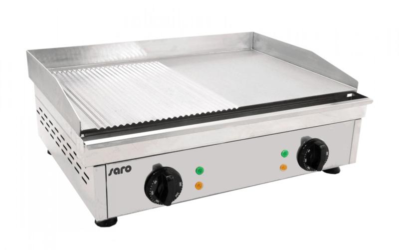 Bakplaat Grillplaat (gegroefd + glad  230 V - 50 Hz - 3,5 kW