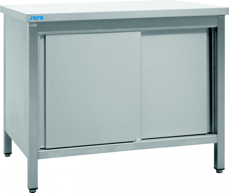 Werkkast RVS met schuifdeuren  W 1000 x D 700 x H 850 mm