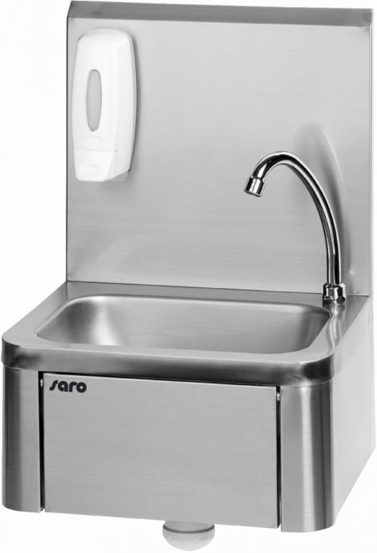 Handenwasbak  Met kniebediening zwenkbare mengkraan