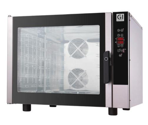 Elektrische heteluchtoven digitaal, 6 bakplaten/roosters van GN1/1 of 600x400, 400V