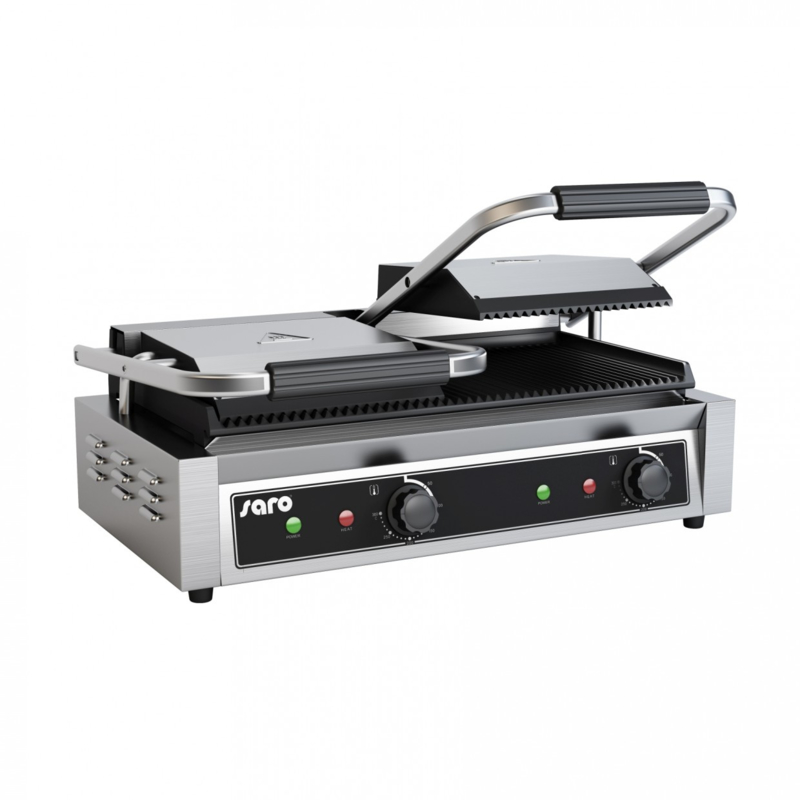 Contactgrill dubbel 230 V - 50 Hz - 3,6 kW