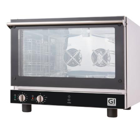 Heteluchtoven voor 4 bakplaten of roosters van GN1/1 of 600x400mm