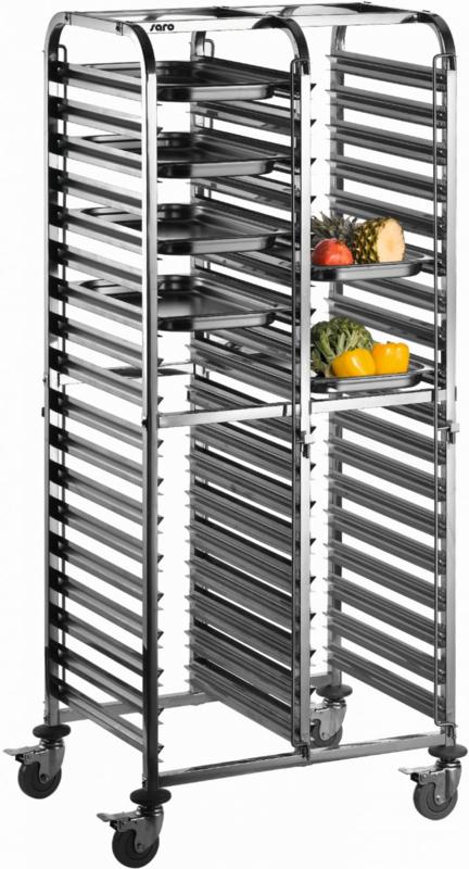 Regaalwagen bakbladen of serveerbladen van 600 x 400 mm