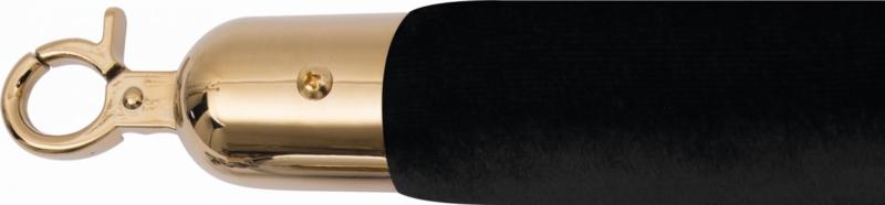 Afzetkoord voor Afzetpaal - 1,5 meter - Velours Zwart - Goud
