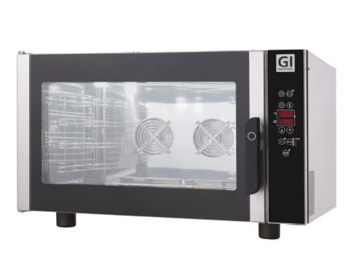 Heteluchtoven, digitaal, 4 bakplaten/roosters van GN1/1 of 600x400mm. 400V