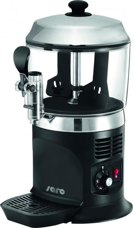 Melk dispenser zwart  verwarmen van melkchocolade of melk