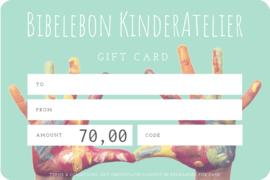 Gift Card, 70 euro