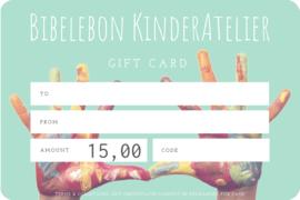 Gift Card, 15 euro