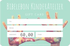 Gift Card, 60 euro