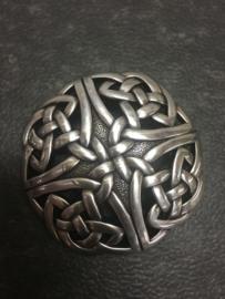 Belt Buckle - 3D - SILVER coated - Celtic Knobs