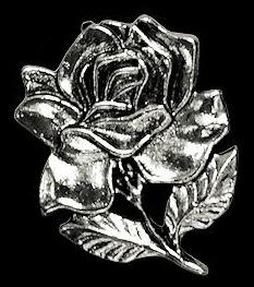 P128 - Pin - Blooming Rose -  Large