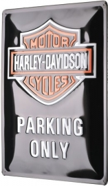 Harley-Davidson - Tin Sign - H-D parking ONLY