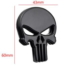 The Punisher - METAL DECAL /  STICKER - Black