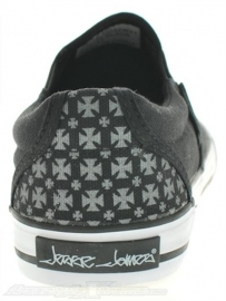 WCC BLACK SLIP ON SHOES - `After Riding`  Low Top Sneakers