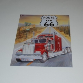 Large Metal Plate - Route 66 USA Truck