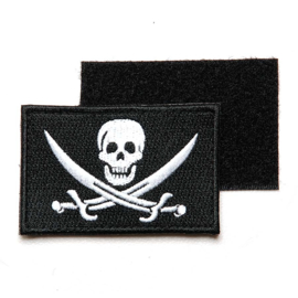 Patch - Pirate Skull Crossed Swords - Velcro