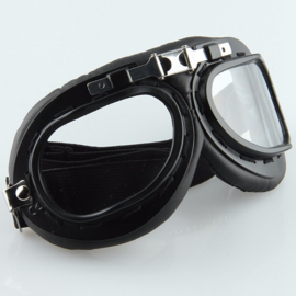 Goggles - Red Baron style - Black
