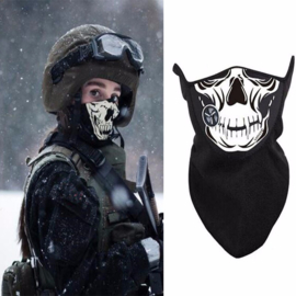 Face Mask - Half XXL - Neo/Fleece,  Skull