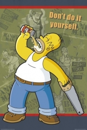 Poster - Homer Simpson Don`t Do It Yourself!
