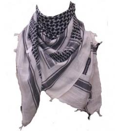PLO - Arafat shawl - Palestina White